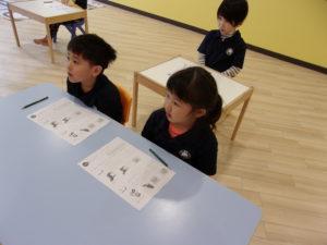 kinder3の様子 ~小学校ごっこ~